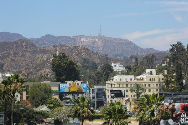 Blick auf Hollywood-Sign