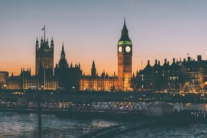 London die City mit Tea-Time Pausen und dem Big Ben