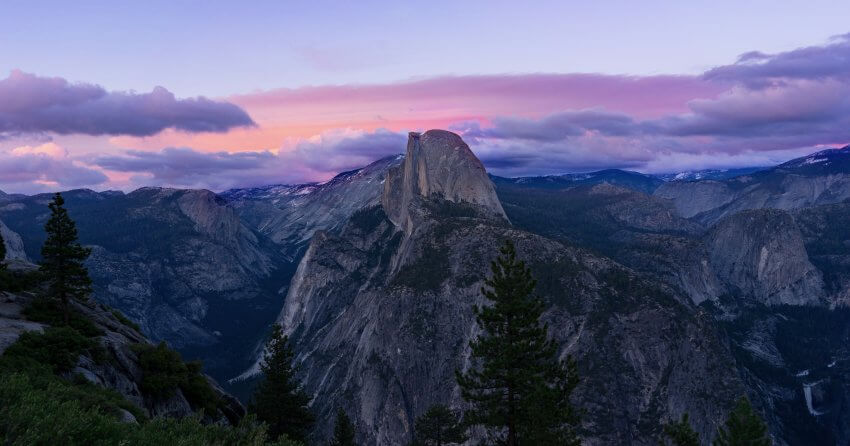 Abendstimmung im Yosemite Nationalpark: definitiv Instagram-tauglich.