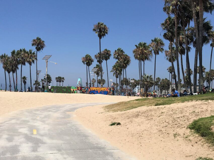 Am Venice Beach in LA.